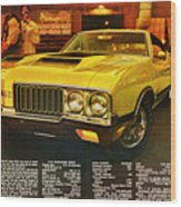 1970 Oldsmobile Cutlass 442 W-30 Wood Print