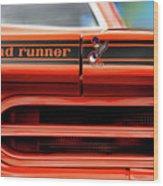 1970 Plymouth Road Runner - Vitamin C Orange Wood Print by Gordon Dean II