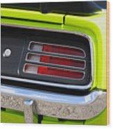 1970 Sublime Green Hemi 'cuda  Wood Print