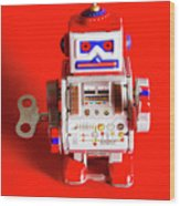 1970s Wind Up Dancing Robot Wood Print