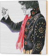 1971 Black Pinwheel Suit Wood Print