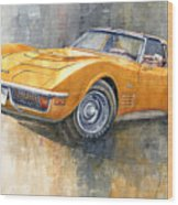 1971 Chevrolet Corvette Lt1 Coupe Wood Print