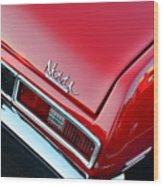 1971 Chevy Nova - Red Wood Print