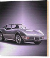 1971 Corvette Stingray 427 Zr1 II Wood Print