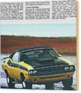 1971 Dodge Challenger T/a Wood Print by Digital Repro Depot