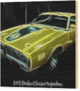 1971 Dodge Charger Superbee - Electric Wood Print