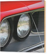 1971 Plymouth Barracuda Cuda Red  Wood Print
