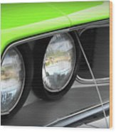1971 Plymouth Barracuda Cuda Sublime Green Wood Print
