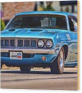 1971 Plymouth 'cuda 383 Wood Print