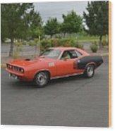 1971 Plymouth Cuda 440 Wood Print