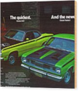 1971 Plymouth Duster 340 And Twister Wood Print