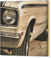 1971 Plymouth Duster 340 Four Barrel Wood Print