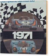 1971 Porsche World Champion Poster Wood Print