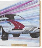 1972 Barracuda  Vintage Styling Design Concept Sketch Wood Print