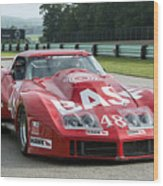 1972 Chevy Corvette At Road America Wood Print