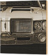 1972 Olds 442 - Sepia Wood Print