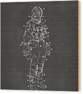 1973 Astronaut Space Suit Patent Artwork - Gray Wood Print