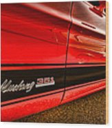 1973 Ford Mustang Mach 1 351 High Performance Wood Print