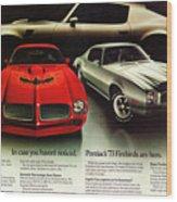 1973 Pontiac Firebird Trans Am  Wood Print