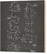 1973 Space Suit Elements Patent Artwork - Gray Wood Print by Nikki Marie Smith
