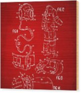 1973 Space Suit Elements Patent Artwork - Red Wood Print by Nikki Marie Smith