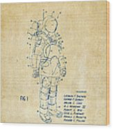 1973 Space Suit Patent Inventors Artwork - Vintage Wood Print by Nikki Marie Smith