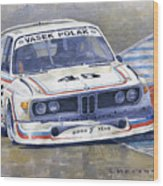1974 Bmw 3.5 Csl  Wood Print