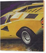 1974 Lamborghini Countach Lp400 Wood Print