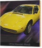 1974 Maserati Merak Wood Print