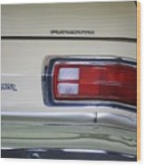 1974 Plymouth Duster Tail Light With Logos Wood Print