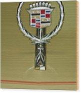 1976 Cadillac Eldorado Convertible Hood Ornament Wood Print
