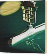 1976 Cadillac Fleetwood Hood Ornament Wood Print