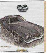 1976 Chevrolet Camato S S 396 Wood Print