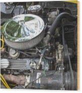 1976 Corvette Sting Ray Original Motor Wood Print