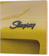 1976 Corvette Stingray Side Emblem Wood Print
