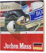 1976 Jarama Marlboro F1 Team Mclaren Jochen Mass Wood Print