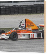 1976 Mclaren M23 F1 At Road America Wood Print