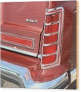 1977 Lincoln Continental Mark V With Tail Lights And Logo Wood Print