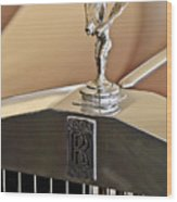 1978 Rolls-royce Hood Ornamaent Wood Print