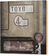 1978 Toyota Land Cruiser Fj40 Taillight Emblem -1191ac Wood Print