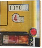 1978 Toyota Land Cruiser Fj40 Taillight Emblem -1191c Wood Print