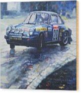 1980 Criterium Lucien Bianchi Porsche Carrera Keller Hoss #20 Wood Print
