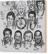 1981 Boston Celtics Championship Newspaper Poster Wood Print by Dave Olsen