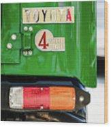 1982 Toyota Fj43 Land Cruiser Tail Light Emblem -0483g Wood Print
