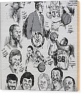 1984 Boston Celtics Championship Newspaper Poster Wood Print