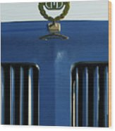 1985 Tiffany Coupe Hood Ornament Wood Print by Jill Reger