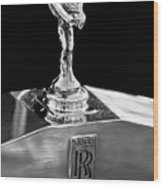 1986 Rolls-royce Hood Ornament 2 Wood Print