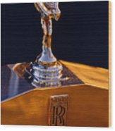 1986 Rolls-royce Hood Ornament Wood Print