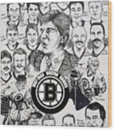 1988 Boston Bruins Newspaper Poster Wood Print