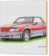 1989 Saleen Mustang Convertible Wood Print